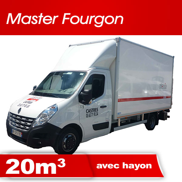 Master fourgon 20m3 avec hayon clovis location castres - Location camion avec hayon ...